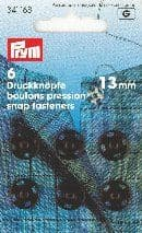 341168 Snap Fasteners - Bx 5