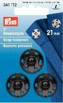 341172 Snap Fasteners - Bx 5