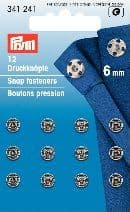 341241 Snap Fasteners - Bx 5