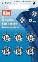 341248 Snap Fasteners - Bx 5