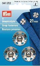 341252 Snap Fasteners - Bx 5