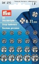341270 Snap Fasteners - Bx 5