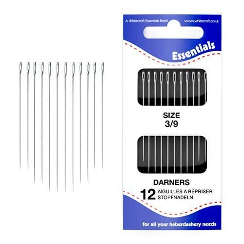 70211 - Essentials 3/9's Assorted Cotton Darners Hand Sewing Needles