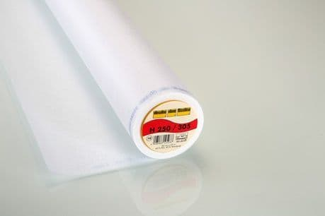 H250/305 Standard Easy Fuse Iron On Firm White Interlining 90cm Width - 25mtr roll