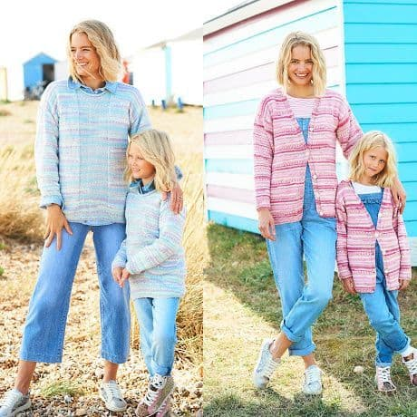 You and Me Pattern 9821 Cardigan and Sweater