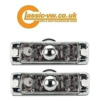 Front Bumper Indicator With Crystal Clear Lens  Mk1 Golf, Mk2 Golf, Polo, Jetta, Caddy