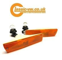 Mk2 Golf Amber Big Bumper Indicator Set 191953155 & 191953156