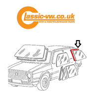 Mk2 Golf Rear 1/4 Glass Seal With Groove For Chrome Left Side 191845321A