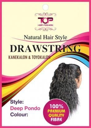 "20"" Deep Pondo Curly  Synthetic Draw string Ponytail"