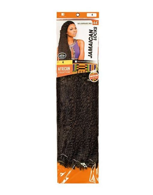 African Collection Jamaican Locks  Soft Afro Kinky Braids 44 inches