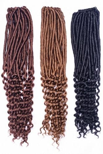 Angels Minerva Pre- Looped Curly Dread Locs - Crochet Braids Synthetic Hair