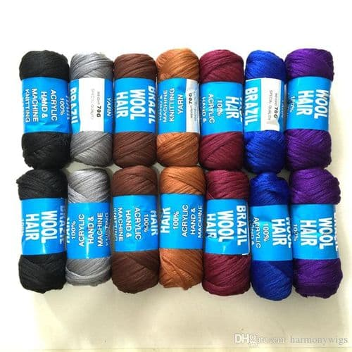 Brazilian Hair Wool -  Braids, Twists, Plaits, Crochet, Knitting Yarn  - Multiple Colours