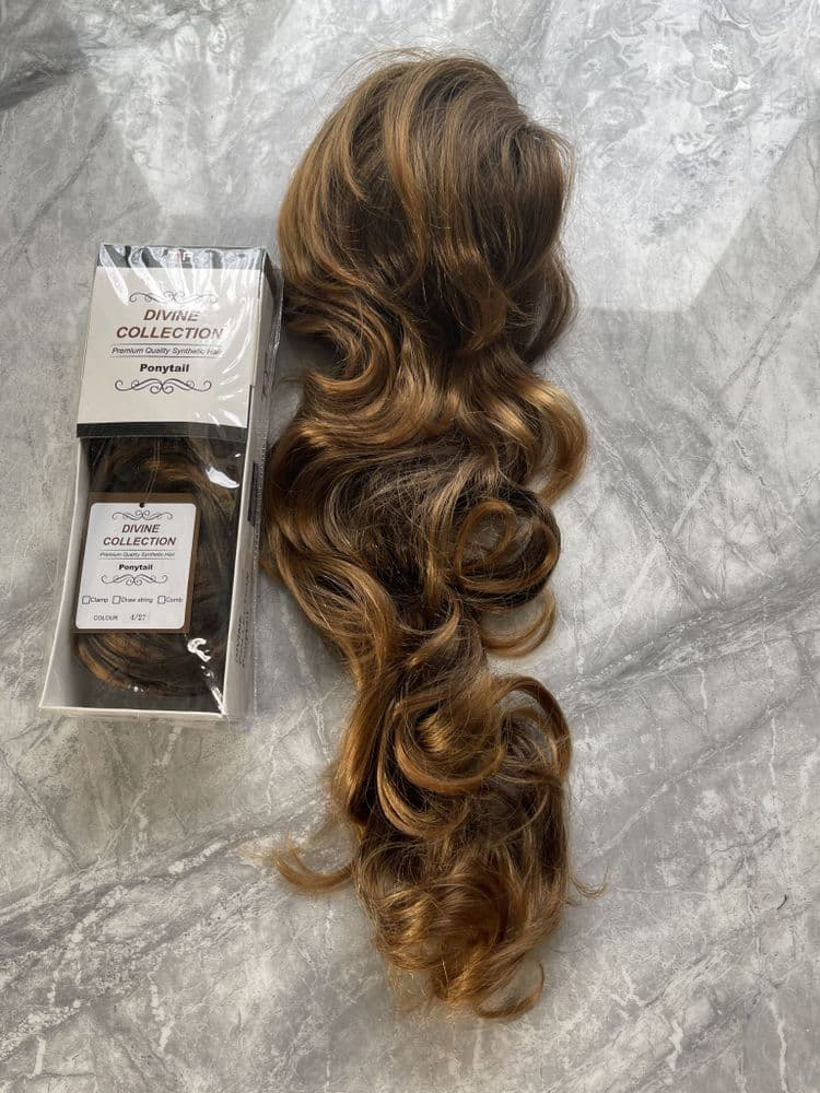 Divine Collection Long Draw string Ponytail- 27 inches