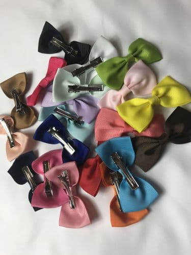 Kids Bow Hair Clips -Ribbon