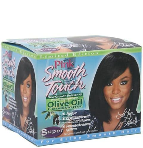 Pink Smooth Touch New Growth Relaxer Kit Super