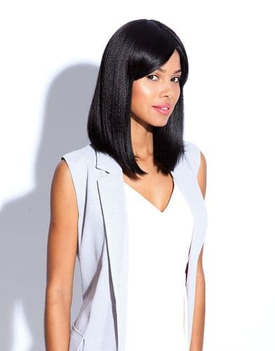 Polished Lob  Tongable Synthetic Wig with Fringe