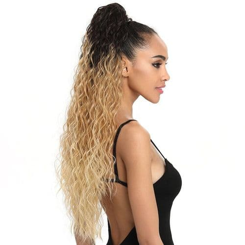 Sleek Belle Curl Long  Drawstring EZ Ponytail  30 inches