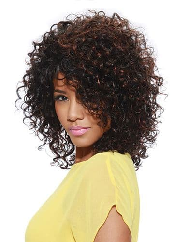 Sleek Fashion idol  Nadia Curly  Synthetic  Wig