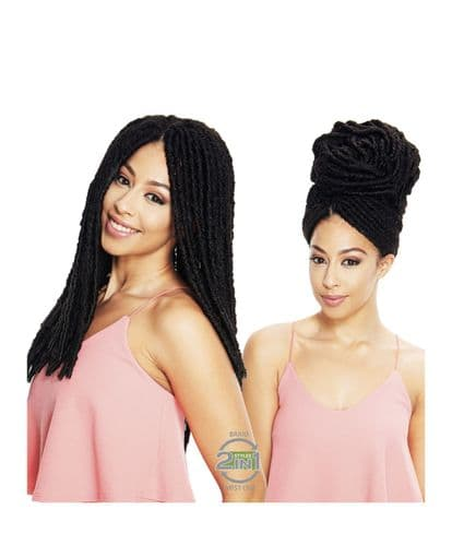 Sleek Jamaica Dredlocks  Crochet - Faux Locs braids- Pre-looped  Hair 22 inches