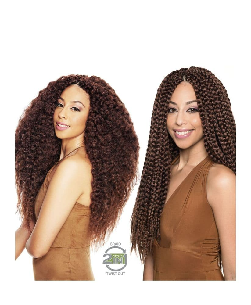 Sleek Mambo 2 IN 1 Box braids- Pre-braided Hair 20 INCHES