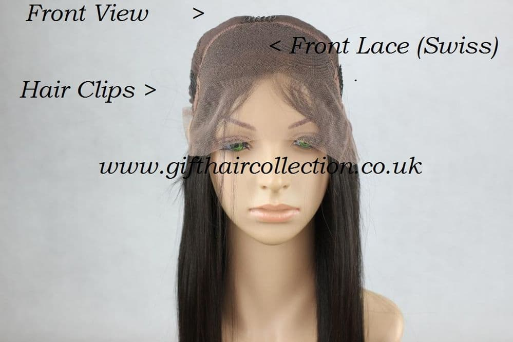 Virgin Brazilian Front Lace  Wig Hair -Straight