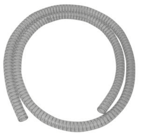 Clear spiral wire waste drain hose pipe 1.5M