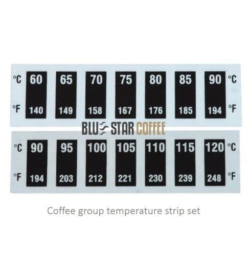 Coffee group temperature strip set