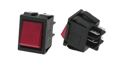 Main power switch Red