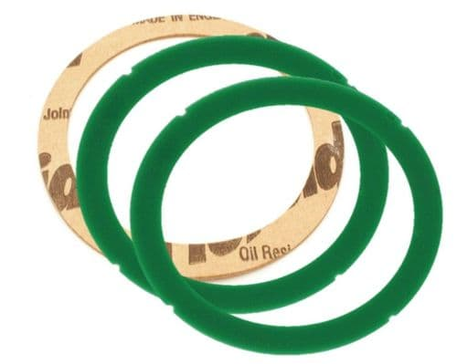 Rancilio Silicon group  gasket x 2 green