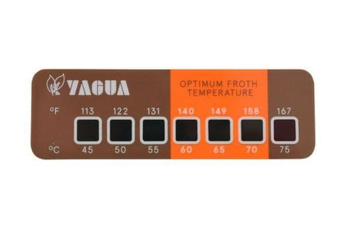 Yagua Milk Jug temperature label