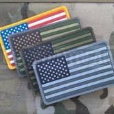 Mil-Spec Monkey Velcro Morale Patch US Flag PVC