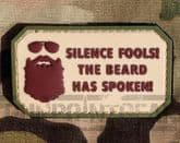 Gun Point Gear - Silence Fools! The Beard has Spoken! PVC Patch