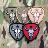 Mil-Spec Monkey Velcro Morale Patch Bull Skull