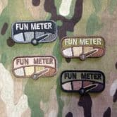 Mil-Spec Monkey Velcro Morale Patch Fun Meter