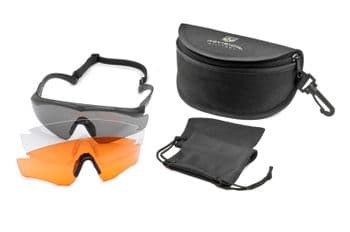Revision Sawfly  MAX-Wrap Deluxe Kit Eyewear System (3 Lenses vermillion) | Gunpoint Gear