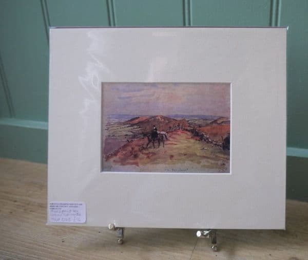 Hunting Lady on the Moors - Lionel Edwards - Hunt E43