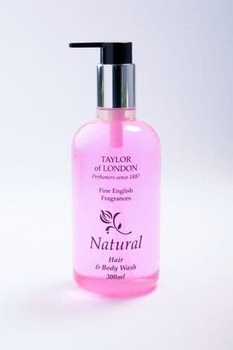CLEARANCE - Taylor of London Natural Hair & Body Wash 300ml Bottles x 10 - £20.00 - ONLY 1 AVAILABLE