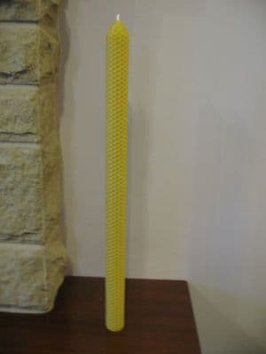Handmade Pure Beeswax Pillar Candles 16in x 1in (Free Shipping UK)