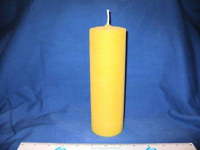 Handmade Pure Beeswax Rolled Candle 8in x 2.5in (Free Shipping UK)