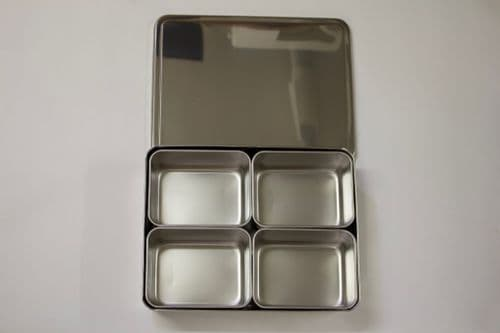 Yakumi pans stainless steel condiment dispenser large #0 4 inserts square