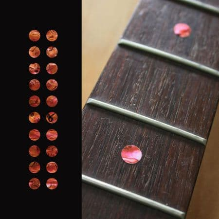 Dots Fretboard Markers Inlay sticker Guitar 20pc Abalone Red