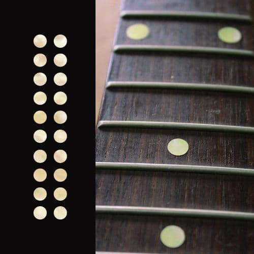 Dots Fretboard Markers Inlay sticker Guitar 20pc Aged White Pearl
