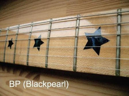 Everly Brothers Star Fret Markers Inlay Stickers Decals Black Pearl