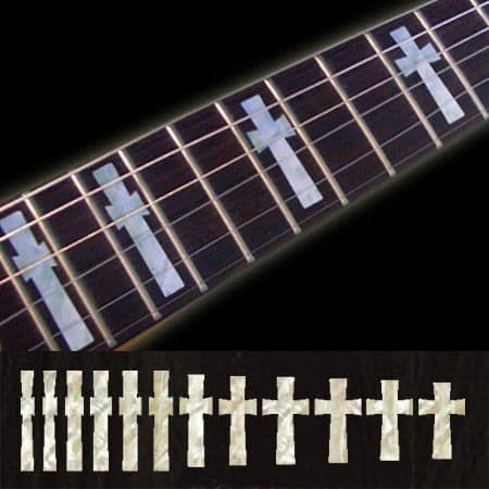 Iommi Cross Fret Markers Inlay Sticker Decal Guitar