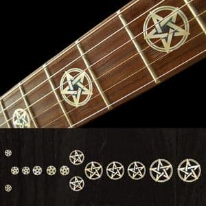 Pentagram white silver / kevin bond Fret Markers Inlay Sticker Decal Guitar