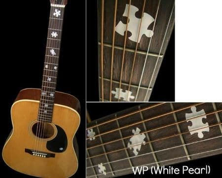 Puzzle Pieces Fretboard Markers Inlay Stickers Decals White Silver