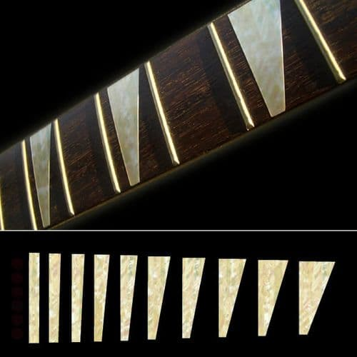 Ricky Triangle Aged White Pearl Fret Markers Inlay Sticker Decal Guitar