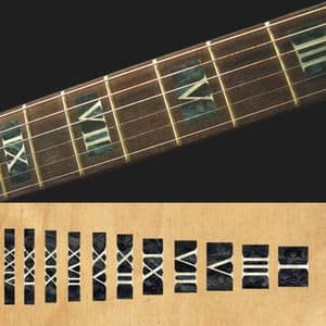 Roman Numeral black pearl Fret  Markers Inlay Sticker For Guitar