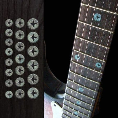 Rusty Screws Fret Markers Inlay Sticker For Guitar Bass