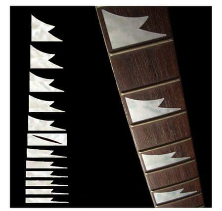 Sharktooth Whitesilver Fret Markers Inlay Sticker Decal Guitar